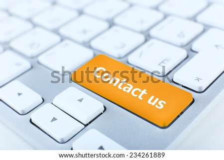 Close up of Contact us keyboard button - stock photo