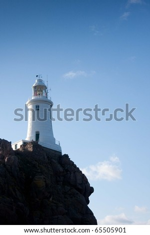 Close-up of Corbiere Lighthouse St Brelade Jersey England