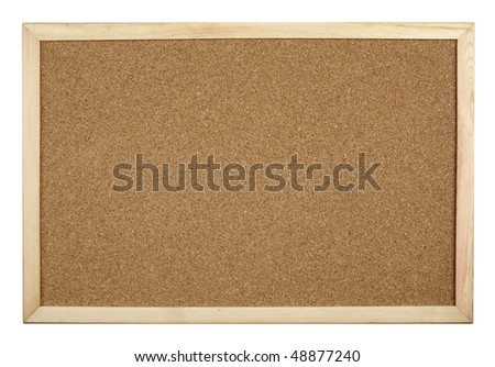 close up of cork board on white background with clipping path - stock photo