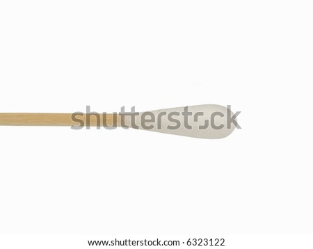 Close up of cotton swab on isolated background - stock photo
