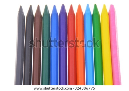 Close up of Crayons - stock photo
