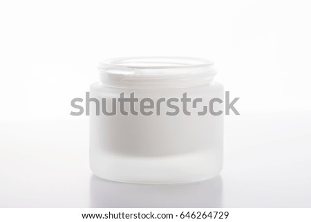 Close-up of cream bottle for skin on white background. Isolated.