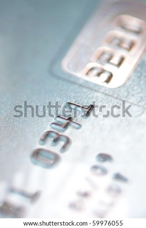 Close up of credit card - stock photo