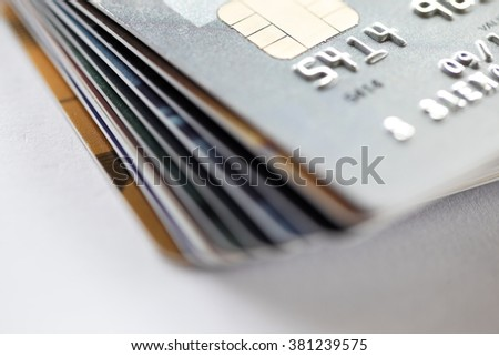 close up of credit card background - stock photo