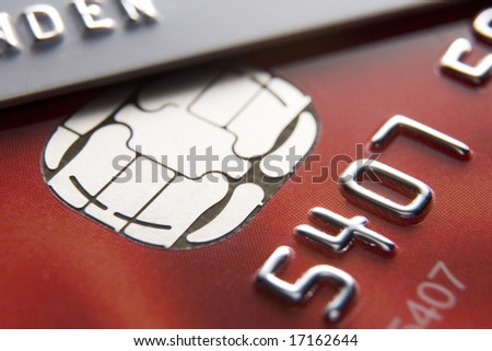Close-Up Of Credit Cards - stock photo