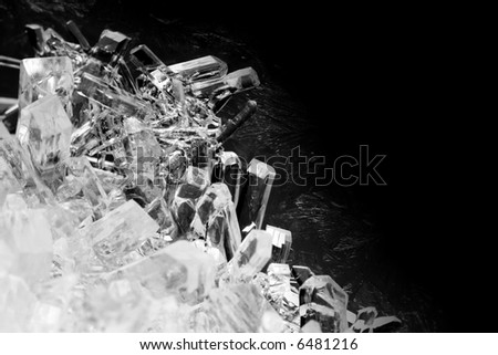 Close-up of crystals - stock photo