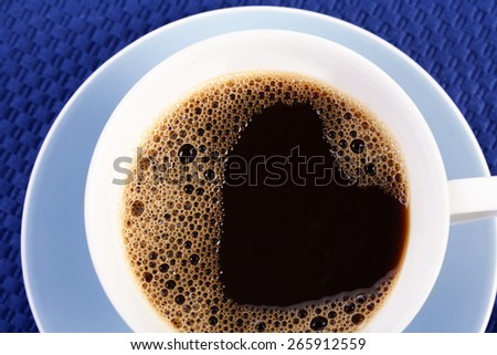 Close up of cup with coffee - stock photo