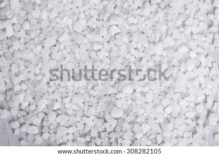 close up of Cyprus sea salt flakes background - stock photo