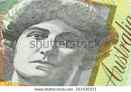 Close up of Dame Nellie Melba on Australian Money - Aussie currency