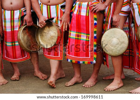 Close-up of dancers from the Philippines. - stock photo