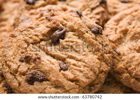 Close up of delicious cookies