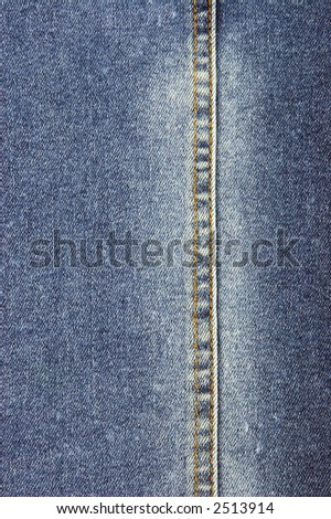 close-up of denim cloth - stock photo