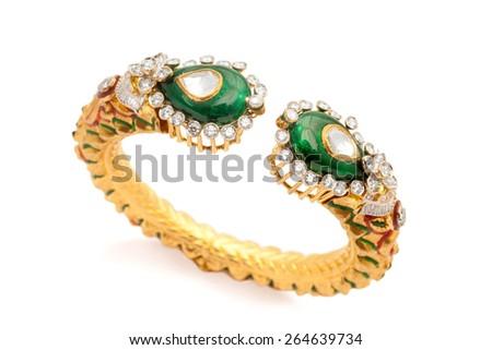 Close Designer Gold Diamond Bracelet Over Stock