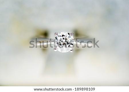Close up of Diamond Ring - stock photo