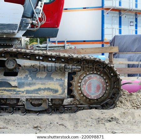Close-up of digger - stock photo
