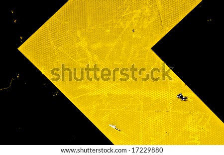 close up of directional street sign - stock photo