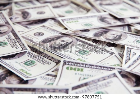 close up of dollars background