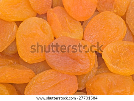 Close up of dried apricots