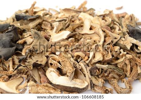 close-up of dried mushrooms - stock photo