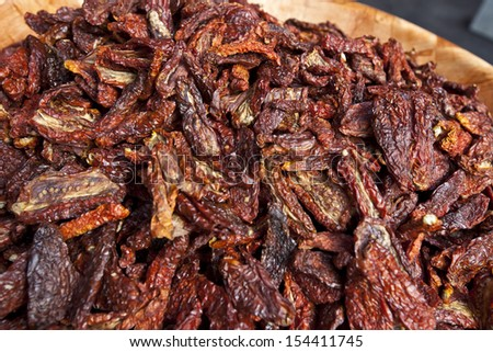 Close-up of dried red chilli pepper - stock photo