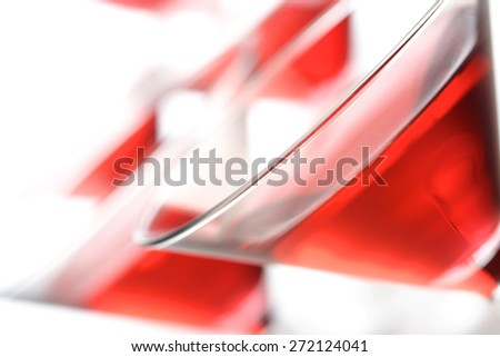 Close up of drink in martini glass - stock photo