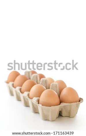 close up of egg on white background with cliping path