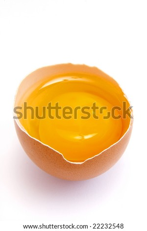 close up of egg on white background, with clipping path, shadow not included - stock photo
