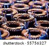 close-up of electric coil with little depth of field - stock photo