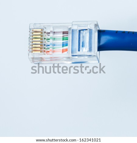 Close up of Ethernet cable - stock photo
