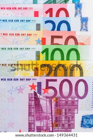 close up of euro money - stock photo