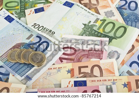 Close-up of Euro money - stock photo