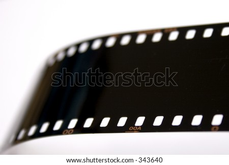 Close up of exposed slide film - stock photo