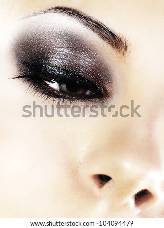 Close-up of eye - stock photo