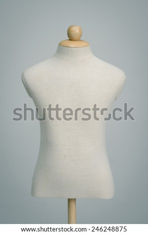 Close up of fabric dummy on background - stock photo