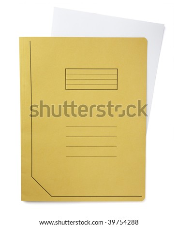 close up of file folder on white background, with clipping path - stock photo