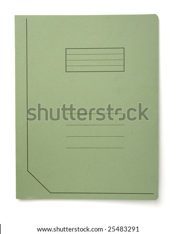 close up of file folders on white background, with clipping path - stock photo
