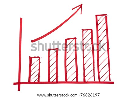 close up of  finance business graph - stock photo