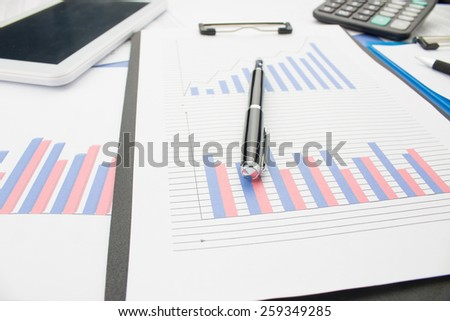 Close-up of financial statements