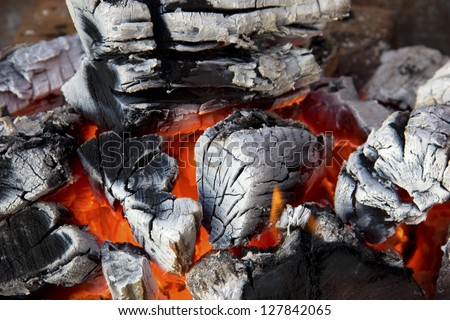 Close up of fire - stock photo
