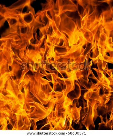 Close up of fire flames - stock photo