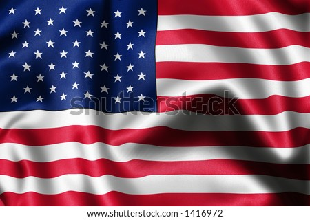 close-up of flag - stock photo