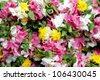 Close up of Flower Garlands - stock photo