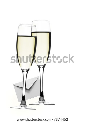 Close-up of fluted champagne glass