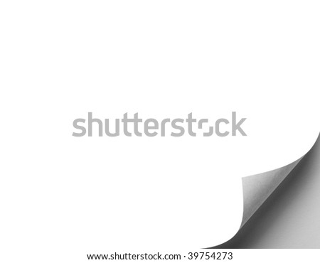 close up of folded white paper - stock photo