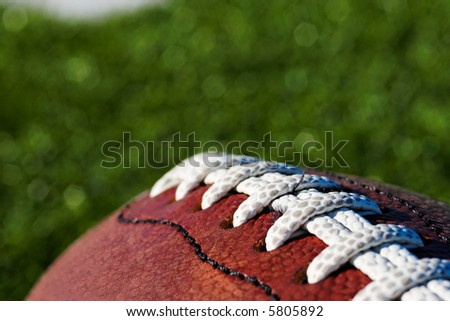 Close up of Football. Shallow DOF - stock photo