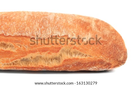 Close up of french baguette. Whole background. - stock photo