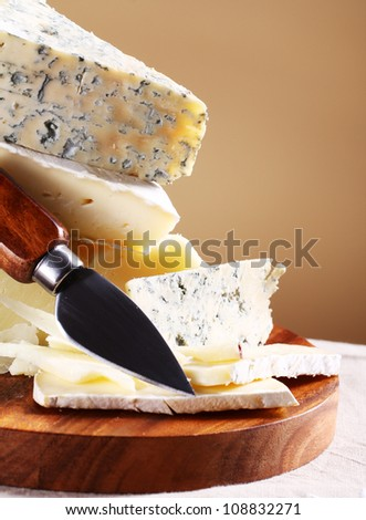 Close up of fresh and delicious cheese - stock photo