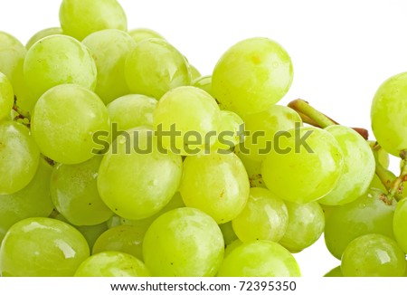 Close-up of fresh grape on the white - stock photo