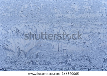 close up of frost on window