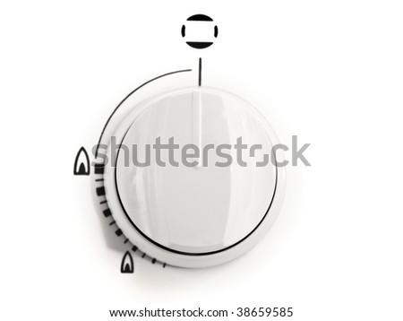 close up of gas stove control knob - stock photo